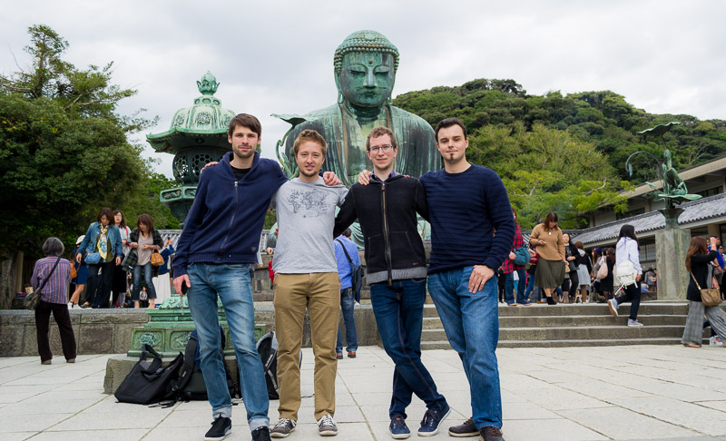Adam, Filip, me and Youri in front of the big Buddha.