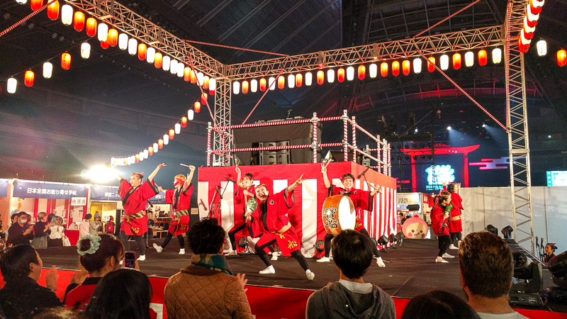 Awa-odori at the Moshimoshi Nippon festival.